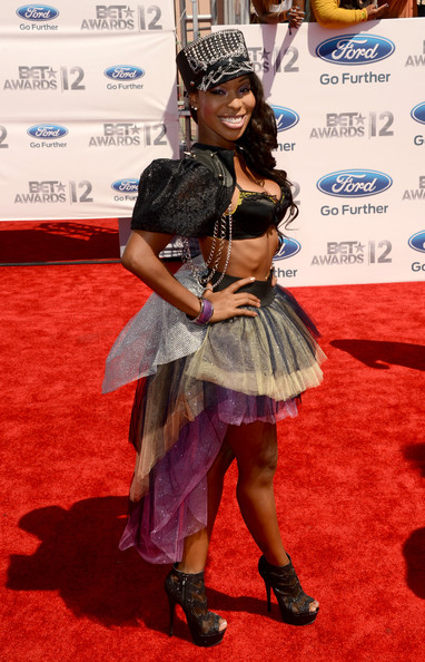 Actress Porscha Coleman arrives at the 2012 BET Awards at The Shrine Auditorium on July 1, 2012 in Los Angeles, California.