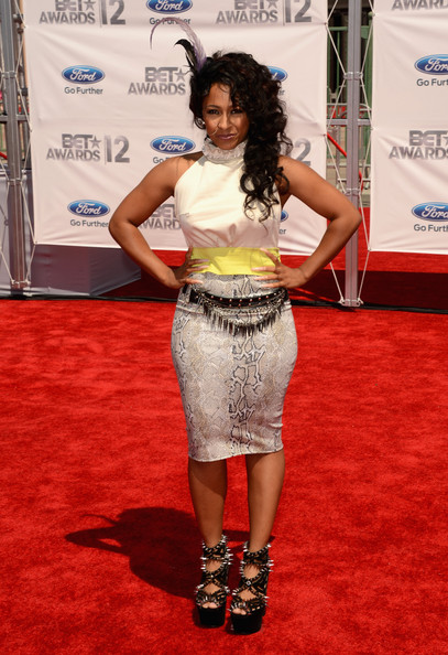 Recording artist Melanie Fiona arrives at the 2012 BET Awards at The Shrine Auditorium on July 1, 2012 in Los Angeles, California.