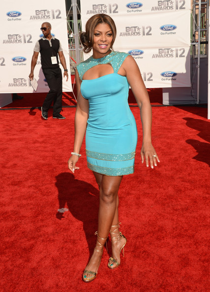 Actress Taraji P. Henson arrives at the 2012 BET Awards at The Shrine Auditorium on July 1, 2012 in Los Angeles, California.