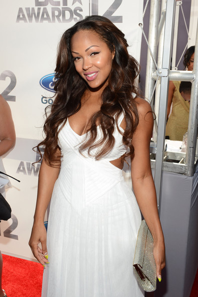 Actress Meagan Good  arrives at the 2012 BET Awards at The Shrine Auditorium on July 1, 2012 in Los Angeles, California.