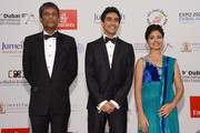 """Actors Adil Hussain, Suraj Sharma and Shravanthi Sainath attend the """"Life of PI"""" Opening Gala during day one of the 9th Annual Dubai International Film Festival held at the Madinat Jumeriah Complex on December 9, 2012 in Dubai, United Arab Emirates."""