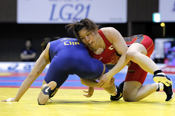 Yang Chen 2012 Female Wrestling World Cup - Day 1