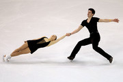 Jessica Dube and Sebastien Wolfe of Canada compete in the Pairs Short Program during the ISU Four Continents Figure Skating Championships at World Arena on February 11, 2012 in Colorado Springs, Colorado.