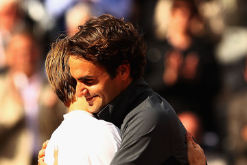 Roger Federer David Goffin 2012 French Open - Day Eight