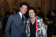 Matteo Marzotto and Suzy Menkes, International Herald Tribune Fashion Editor, attend the gala party celebrating the 2012 International Herald Tribune's Luxury Business Conference held at Musei Capitolini on November 15, 2012 in Rome, Italy. The 12th annual IHT Luxury conference is the premier meeting point for the luxury industry. 500 delegates from 30 countries have gathered in Rome to hear from the world's most inspirational fashion designers and luxury business leaders.