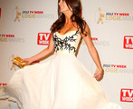 Actor Esther Anderson poses in the Awards Room at the 2012 Logie Awards at the Crown Palladium on April 15, 2012 in Melbourne, Australia.