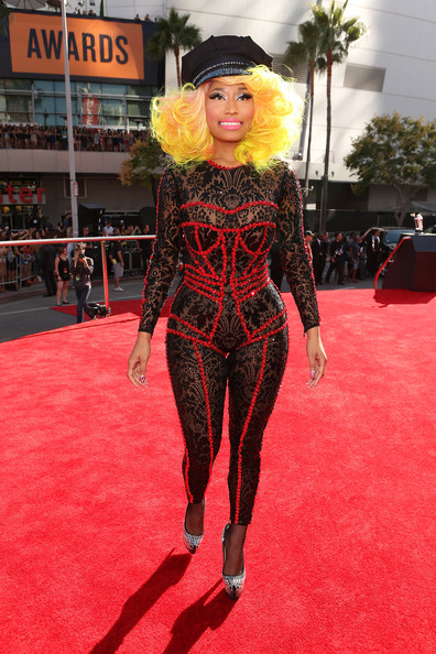 Rapper/singer Nicki Minaj arrives at the 2012 MTV Video Music Awards at Staples Center on September 6, 2012 in Los Angeles, California.