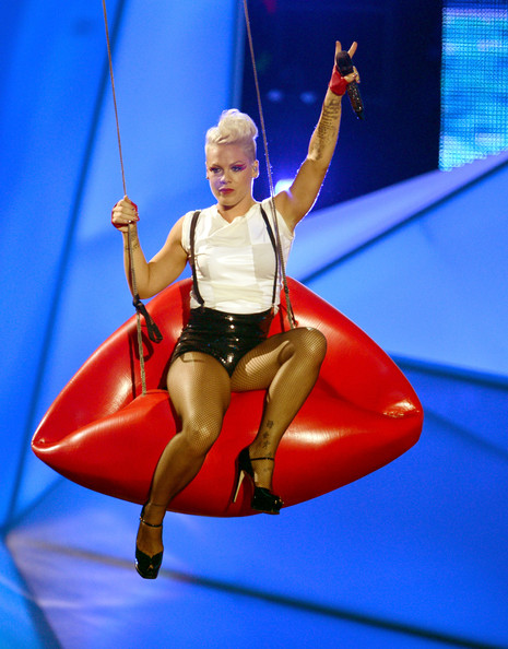 Singer Pink performs onstage during the 2012 MTV Video Music Awards at Staples Center on September 6, 2012 in Los Angeles, California.