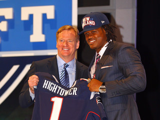Roger Goodell Dont'a Hightower 2012 NFL Draft - First Round