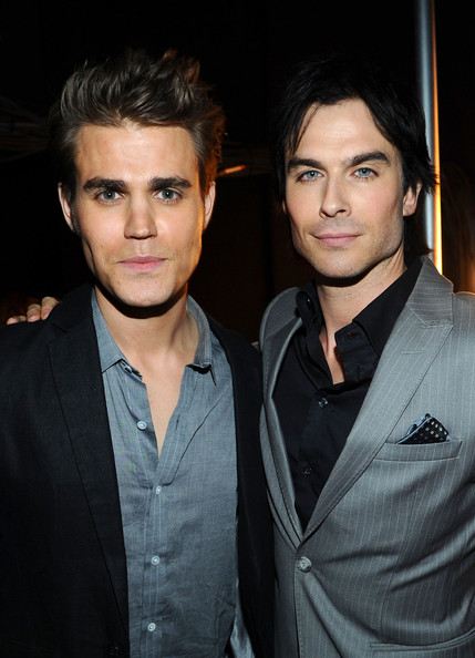 Actors Paul Wesley (L) and Ian Somerhalder attend the 2012 People's Choice Awards at Nokia Theatre L.A. Live on January 11, 2012 in Los Angeles, California.