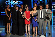 The cast and crew of 'How I Met Your Mother' accept the Favorite Network TV Comedy award onstage at the 2012 People's Choice Awards at Nokia Theatre L.A. Live on January 11, 2012 in Los Angeles, California.