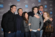 """David Permut , Brian Dannelly, Allie Grant,  and the cast of """"Struck By Lightning"""" attend the 2012 Tribeca Film Festival and American Express LA reception held at The Beverly Hilton Hotel on March 19, 2012 in Beverly Hills, California."""