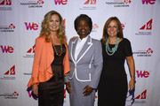 (L-R) Kim Martin, President and General Manager, WE tv,  FCC Commissioner Mignon Clyburn and Maria E. Brennan, President and CEO of Women in Cable Telecommunications, pose for a photo at the 2012 WICT Touchstones Luncheon at Hilton New York on September 10, 2012 in New York City.