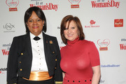"""US Surgeon General Dr. Regina Benjamin  and Caroline Manzo attend the 2012 """"Woman's Day"""" Red Dress Awards at Jazz at Lincoln Center on February 15, 2012 in New York City."""