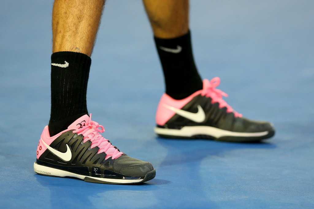 PHOTOS: Roger Federer Busted By Wimbledon For Wearing Shoes With