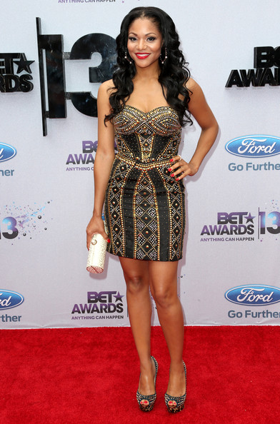 Actress Erica Hubbard attends the 2013 BET Awards at Nokia Theatre L.A. Live on June 30, 2013 in Los Angeles, California.