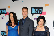 Jeff Lewis, Jenni Pulos and Zola Chavez attend the 2013 Bravo New York Upfront at Pillars 37 Studios on April 3, 2013 in New York City.