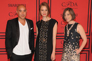 (L-R) Max Osterweis, Tilda Lindstam, and Erin Beatty attend 2013 CFDA FASHION AWARDS Underwritten By Swarovski - Red Carpet Arrivals at Lincoln Center on June 3, 2013 in New York City.