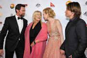 (L-R) Actors Hugh Jackman, Deborra-Lee Furness, Nicole Kidman and musician Keith Urban arrive at the 2013 G'Day USA Los Angeles Black Tie Gala at JW Marriott Los Angeles at L.A. LIVE on January 12, 2013 in Los Angeles, California.