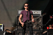 (L-R) Bassist Jared Followill of Kings of Leon perform at the 2013 Global Citizen Festival in Central Park to end extreme poverty on September 28, 2013 in New York, United States.