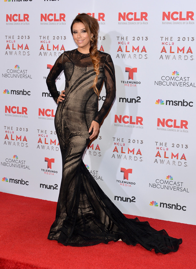 Host Eva Longoria attends the Winner's Walk during the 2013 NCLR ALMA Awards at Pasadena Civic Auditorium on September 27, 2013 in Pasadena, California.