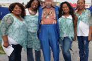 Dr. John (center) joins The McCrary Sisters, Ann McCrary, Deborah McCrary, Regina McCrary and Alfreda McCrary backstage during the 2013 New Orleans Jazz & Heritage Music Festival presented by Shell at Fair Grounds Race Course on April 26, 2013 in New Orleans, Louisiana.