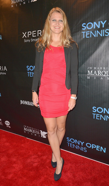 Lucie Safarova arrives at Sony Open Player Party 2013 at JW Marriott Marquis on March 19, 2013 in Miami, Florida.
