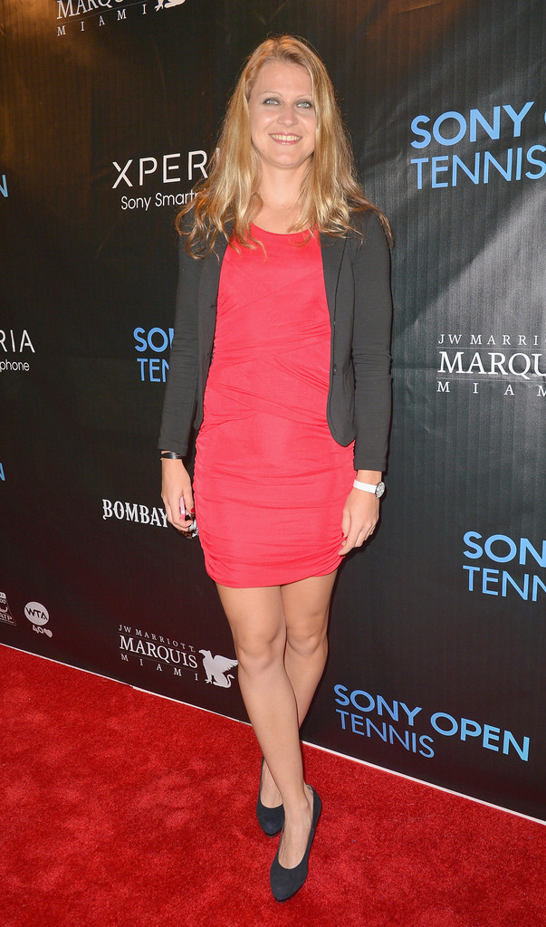 lucie safarova in arrivals at the sony open player party 1
