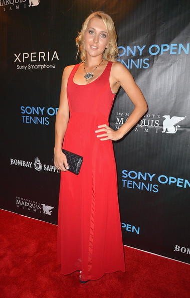 Elena Vesnina arrives at Sony Open Player Party 2013 at JW Marriott Marquis on March 19, 2013 in Miami, Florida.