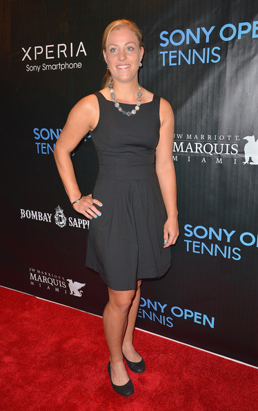 Angelique Kerber arrives at Sony Open Player Party 2013 at JW Marriott Marquis on March 19, 2013 in Miami, Florida.