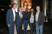 """(L-R) Actor Ryan Stiles, President of The CW Mark Pedowitz, actors Wayne Brady, Aisha Tyler and Colin Mochrie attend the """"Whose Line Is It Anyway?"""" breakfast buffet at the CBS, Showtime and The CW portion of the 2013 Summer Television Critics Association tour at the Beverly Hilton Hotel on July 30, 2013 in Beverly Hills, California."""