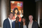 """(L-R) Actors Ryan Stiles, Wayne Brady, Aisha Tyler and Colin Mochrie attend the """"Whose Line Is It Anyway?"""" breakfast buffet at the CBS, Showtime and The CW portion of the 2013 Summer Television Critics Association tour at the Beverly Hilton Hotel on July 30, 2013 in Beverly Hills, California."""