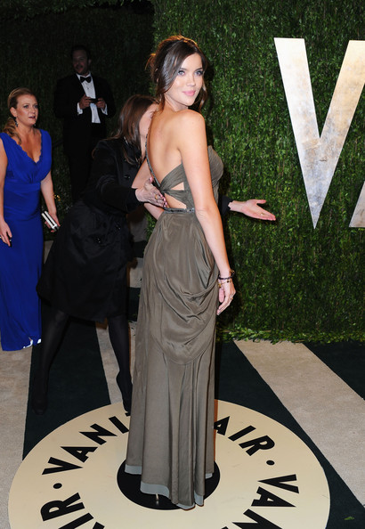 Model Natasha Barnard arrives at the 2013 Vanity Fair Oscar Party hosted by Graydon Carter at Sunset Tower on February 24, 2013 in West Hollywood, California.