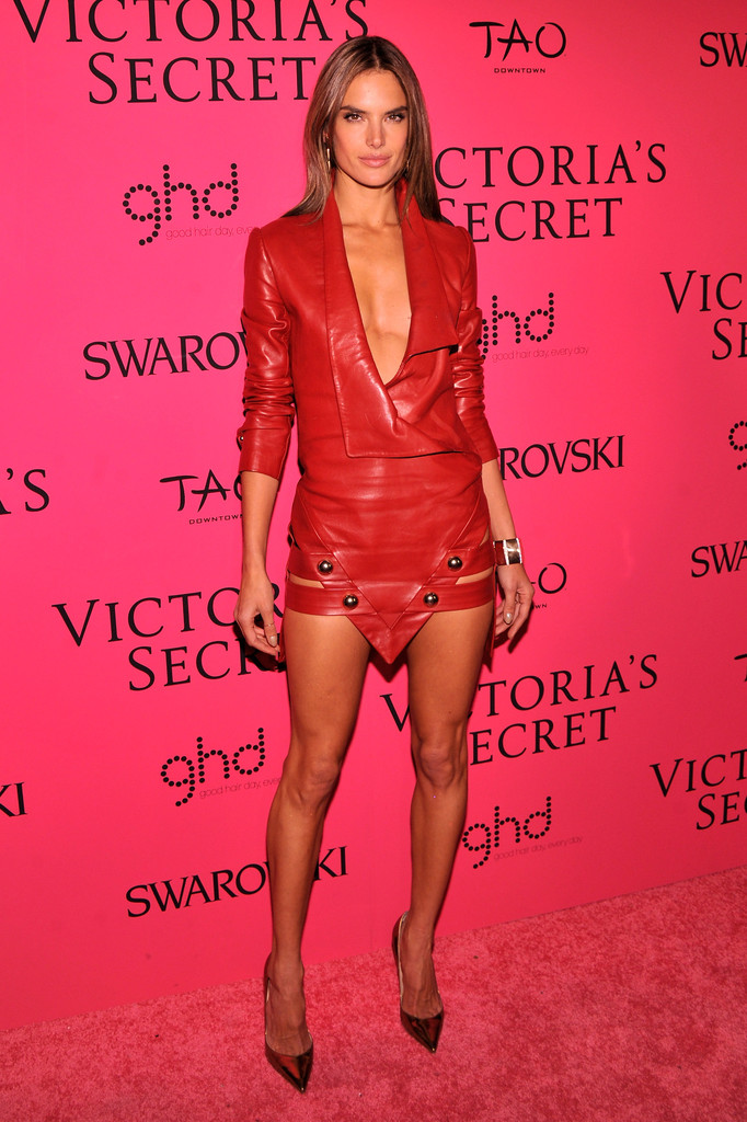 Model Alessandra Ambrosio attends the 2013 Victoria's Secret Fashion Show at TAO Downtown on November 13, 2013 in New York City.