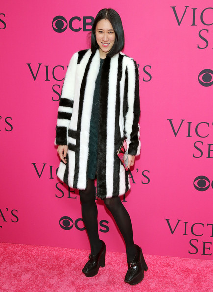 Editor in Chief of Lucky, Eva Chen attends the 2013 Victoria's Secret Fashion Show at Lexington Avenue Armory on November 13, 2013 in New York City.