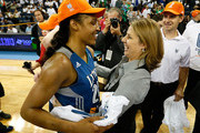Head coach Cheryl Reeve of the Minnesota Lynx hugs Maya Moore #23 after their 86-77 win over the Atlanta Dream in Game Three of the 2013 WNBA Finals at Philips Arena on October 10, 2013 in Atlanta, Georgia.  NOTE TO USER: User expressly acknowledges and agrees that, by downloading and or using this Photograph, user is consenting to the terms and conditions of the Getty Images License Agreement.