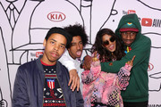 (L-R) Earl Sweatshirt, Taco Bennett, M.I.A. and Tyler The Creator attend the YouTube Music Awards 2013 on November 3, 2013 in New York City.