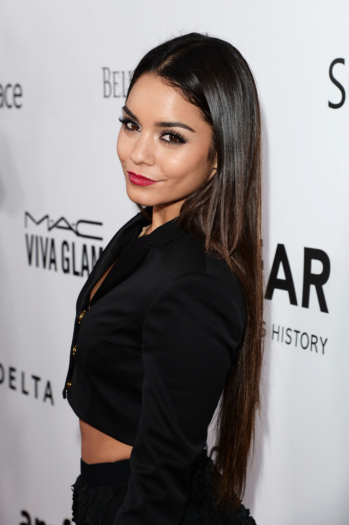 Actress Vanessa Hudgens attends the 2013 amfAR Inspiration Gala Los Angeles at Milk Studios on December 12, 2013 in Los Angeles, California.