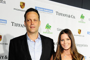 Actor Vince Vaughn (L) and Kyla Weber attend the 2014 Baby2Baby Gala, presented by Tiffany & Co. on November 8, 2014 in Culver City, California.