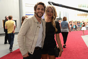 Thomas Rhett and Lauren Gregory attend the 2014 CMT Music Awards at Bridgestone Arena on June 4, 2014 in Nashville, Tennessee.