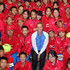 Petra Kvitova Photos - Petra Kvitova of the Czech Republic poses with ball kids during day five of of the China Open at the National Tennis Center on October 1, 2014 in Beijing, China. - China Open: Day 5