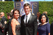 (L-R) TV personalities Jenni Pulos, Jeff Lewis and Zoila Chavez attend the 2014 Creative Arts Emmy Awards at Nokia Theatre L.A. Live on August 16, 2014 in Los Angeles, California.