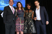 Film Independent President Josh Welsh, actress Emily Mortimer, actress Angela Bassett, and actor Alessandro Nivola attend the 2014 Film Independent Filmmaker Grant And Spirit Awards Nominees Brunch at BOA Steakhouse on January 11, 2014 in West Hollywood, California.