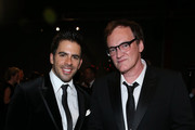 Director Eli Roth (L) and honoree Quentin Tarantino attend the 2014 LACMA Art + Film Gala honoring Barbara Kruger and Quentin Tarantino presented by Gucci at LACMA on November 1, 2014 in Los Angeles, California.
