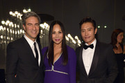 (L-R) LACMA Director Michael Govan, designer Eva Chow and actor Byung-hun Lee attend the 2014 LACMA Art + Film Gala honoring Barbara Kruger and Quentin Tarantino presented by Gucci at LACMA on November 1, 2014 in Los Angeles, California.