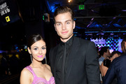 Actress/recording artist Victoria Justice (L) and actor Pierson Fode attend the after party for the 2014 MTV Movie Awards at Nokia Theatre L.A. Live on April 13, 2014 in Los Angeles, California.