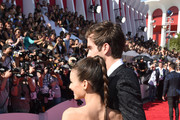 Actors Victoria Justice and  Pierson Fode attend the 2014 MTV Video Music Awards at The Forum on August 24, 2014 in Inglewood, California.