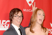 Musician Ben Folds (L) and actress Alicia Witt attend The 2014 MusiCares Person Of The Year Gala Honoring Carole King at Los Angeles Convention Center on January 24, 2014 in Los Angeles, California.