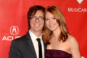 Recording artist Ben Folds (L) and actress Alicia Witt attend The 2014 MusiCares Person Of The Year Gala Honoring Carole King at Los Angeles Convention Center on January 24, 2014 in Los Angeles, California.