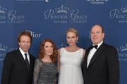 (L-R) Gala Host Committee members Jerry Bruckheimer and Linda Bruckheimer, Her Serene Highness Princess Charlene of Monaco and His Serene Highness Prince Albert II of Monaco attend the 2014 Princess Grace Awards Gala with presenting sponsor Christian Dior Couture at the Beverly Wilshire Four Seasons Hotel on October 8, 2014 in Beverly Hills, California.